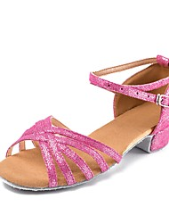 Недорогие -Для детей Детская обувь для танцев Нубук Лакированная кожа Учебный С пряжкой На низком каблуке Пурпурный 2,5 - 4,5 см Персонализируемая