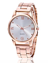 cheap -Men's Women's Dress Watch Wrist watch Chinese Quartz Metal Band Minimalist Casual Silver Gold Rose Gold