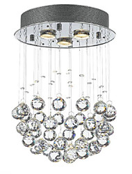 cheap -Nature Inspired Country Traditional/Classic Crystal Mini Style Designers Flush Mount Ambient Light For Living Room Study Room/Office