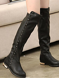 Girls' Shoes PU Fall Winter Comfort Fashion Boots Boots Over The Knee Boots For Casual Black