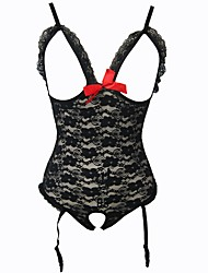 Women's Lace Lingerie Ultra Sexy Teddy Nightwear,Sexy Push-Up Lace Color Block-Translucent Cotton Polyester