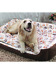 cheap -Dog Bed Pet Mats & Pads Geometric Keep Warm Camel Blushing Pink Beige