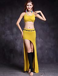 Devemos roupas de dança do ventre Formação feminina Calças modas sem mangas cai falso tops cintura acessório