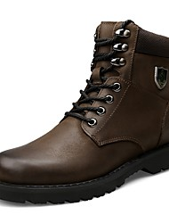 cheap -Men's Shoes Cowhide Nappa Leather Leather Fall Winter Combat Boots Bootie Motorcycle Boots Fashion Boots Boots Mid-Calf Boots Booties /