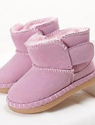 baratos -Para Meninas Sapatos Pele Inverno Conforto Botas para Marron / Vermelho / Rosa claro / Botas Curtas / Ankle