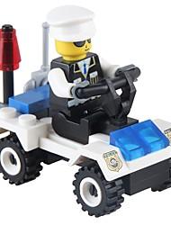 Blocos de Construir Carro de Polícia Brinquedos Veículos Non Toxic Clássico Novo Design Adulto 36 Peças