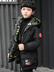 cheap -Boys' Solid Camouflage Down & Cotton Padded Black Army Green