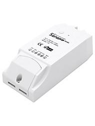 sonoff® dual channel diy wifi aplicativo sem fio controle remoto interruptor tomada ac 90-250v para casa inteligente