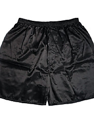 cheap -Men's Silk Boxers Underwear Solid Colored 1 Piece Mid Rise