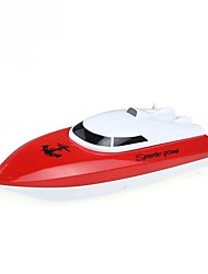 Barco Com CR WL Toys HY802Red 4 Canais 20 KM / H RTR