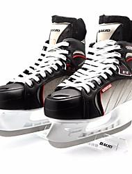Unisex Figure Skates PVC Leather Tulle Wearable Beginner Leisure Sports Black