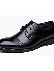 cheap -Men's Shoes Real Leather Fall Comfort Oxfords For Outdoor Black