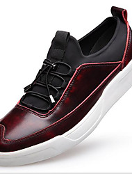 Masculino sapatos Pele Primavera Outono Solados com Luzes Mocassins e Slip-Ons Para Casual Preto Cinzento Vermelho