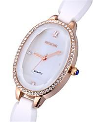cheap -Women's Fashion Watch Wrist watch Quartz Ceramic Band White