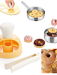cheap -Plastic Donut Mold Cake Mold Desserts Bread Cutter Maker Baking Bakeware Mould Decorating Tools