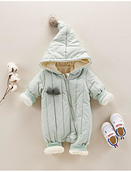 Baby Solid Color One-Pieces,Polyester 100%Cotton Fall Winter