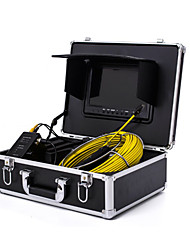 "cheap -Endoscope Pipeline Inspection System 7"" 30M Drain Sewer Waterproof Camera with 12 LED Lights"