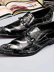 economico -Da uomo Scarpe Nappa Autunno Inverno Scarpe formali Oxfords Punta metallica Per Casual Serata e festa Nero