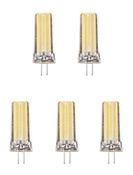 abordables -5pcs 4W 1lm G4 LED à Double Broches 1 Perles LED COB Blanc Chaud Blanc Froid 220-240V