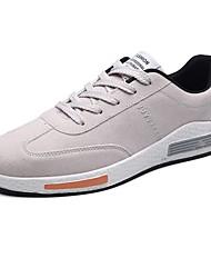 Da uomo Scarpe Cashmere Primavera Autunno Suole leggere Sneakers Lacci Per Casual Nero Grigio Rosso