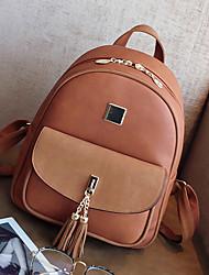 cheap -Women Bags PU Backpack Zipper for Casual Office & Career All Seasons Blue Brown Black Khaki