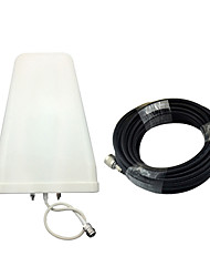8/9dBi Log Periodic Antenna Outdoor External Antenna 800-2500MHz with 10meters 75ohm Cable for 2G 3G CDMA GSM DCS PCS W-CDMA Signal Booster