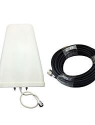 8 / 9dbi log périodique antenne externe extérieure antenne 800-2500mhz avec 10 mètres 75ohm câble pour 2g 3g cdma gsm dcs pcs w-cdma