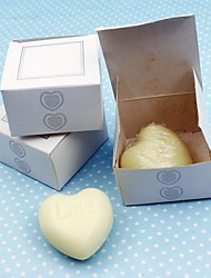 cheap -10Box/Set - Mini Heart White Soap Wedding Favor - 5 x 5 x 3 cm/box - Beter Gifts® Party Supplies