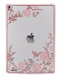 caja para el ipad ipad6 de la manzana cubierta protectora suave de la impresión de la cubierta de la manga air2 del silicón de alto grado