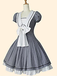 cheap -Sailor Lolita Dress Princess Women's Girls' One Piece Dress Cosplay Black Short Sleeves