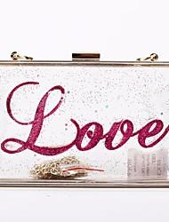 economico -Donna Sacchetti PU (Poliuretano) Pochette Tasche per Serata/evento Per tutte le stagioni Oro Bianco Rosso