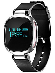 Men's Fashion Watch Digital Watch Digital LED Heart Rate Monitor Silicone Band Black