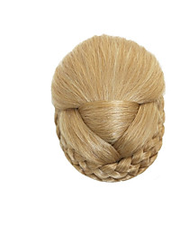 cheap -Light Blonde Classic New Year's Christmas Halloween Hair Bun High Quality chignons Synthetic Hair Hair Piece Hair Extension Classic New