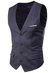 cheap -Men's Plus Size Cotton Slim Vest - Solid Colored