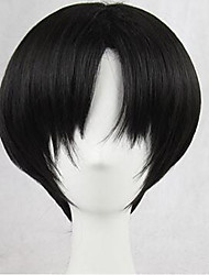 cheap -Black Men's Capless Natural Wigs Cosplay Wig Short Synthetic Hair