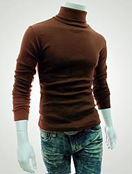 Tee-shirt Homme,Couleur Pleine Sports Décontracté / Quotidien Décontracté / Quotidien Toutes les Saisons Automne Manches Longues Col Roulé