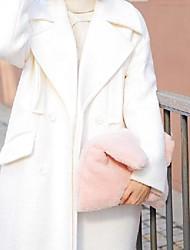 economico -Donna Sacchetti Pelliccia Pochette Con Piume / in pelliccia per Serata/evento Casual Inverno Bianco Nero Rosso Rosa Grigio