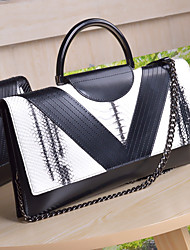 cheap -Women Bags Cowhide Clutch Zipper for Casual All Seasons White Black