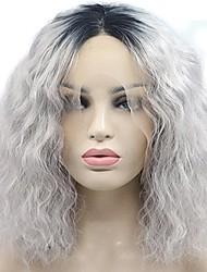 preiswerte -Synthetische Perücken Grau Damen Spitzenfront Karnevalsperücke Halloween Perücke Promi-Perücke Party-Perücke Drag-Queen Perücke Lolita