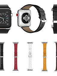 preiswerte -für Apple Watch Serie 3 2 1 Ersatzarmbänder aus echtem Leder 38 42mm