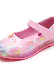 Fille Chaussures Similicuir Printemps Automne Confort Chaussures de Demoiselle d'Honneur Fille Ballerines Pour Décontracté Blanc Noir