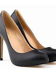 Damen Schuhe Echtes Leder Frühling Herbst Pumps High Heels Stöckelabsatz Für Normal Kleid Schwarz Gelb Fuchsia Grün Blau