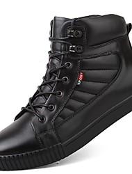 cheap -Men's Shoes Real Leather Cowhide Nappa Leather Winter Fluff Lining Driving Shoes Comfort Snow Boots Fashion Boots Sneakers Lace-up For