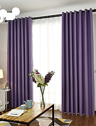 cheap -Rod Pocket Grommet Top Tab Top Double Pleat Pencil Pleat Curtain European, Yarn Dyed Solid Bedroom Material Curtains Drapes Home