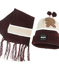 Дети Шарф, шапка и перчатки в комплекте,Зима,Вязаная одежда