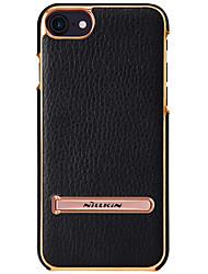 economico -Custodia Per Apple iPhone 8 iPhone 7 Con supporto Custodia posteriore Tinta unica Resistente Vera pelle per iPhone 8 Plus iPhone 8 iPhone