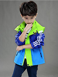 preiswerte -Jungen Jacke & Mantel Einfarbig Blau Orange Gelb