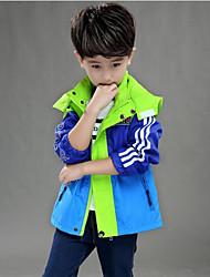 cheap -Boys' Color Block Jacket & Coat Blue Orange Yellow