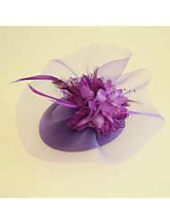 cheap -Flannelette Fabric Fascinators Hats 1 Wedding Party / Evening Headpiece