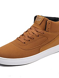 cheap -Men's Shoes Cashmere Fall Winter Comfort Sneakers Lace-up For Casual Light Brown Coffee Black